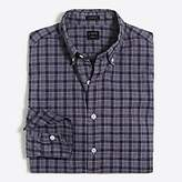 J.Crew Factory Slim-fit washed plaid shirt in heathered cotton