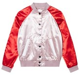 Burberry Pink Satin Bomber with Applique