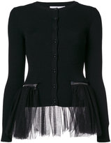 Moschino tulle cardigan - women - Polyamide/Virgin Wool - 40