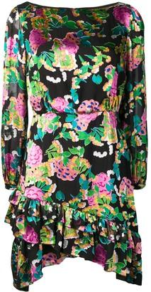 Saloni Hydrangea Print Mini Dress