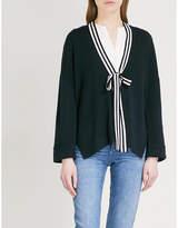 Claudie Pierlot Neck-tie wool-blend cardigan