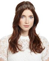 Jennifer Behr Headpieces Filippa Swarovski®; Head Wrap, Antique Gold