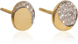 Pamela Love Mismatched Moon Phase 18k Yellow-Gold Diamond Studs