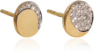 Pamela Love Mismatched Moon Phase 18k Yellow-Gold Diamond Studs