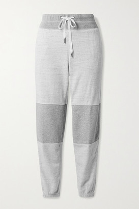 James Perse Paneled Melange Cotton-jersey Track Pants - Gray