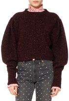 Isabel Marant Elaya Knit Puff-Sleeve Sweater