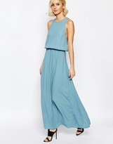 Just Female Rio Maxi Dress in Smoke Blue
