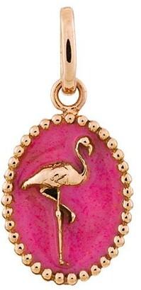 Gigi Clozeau Gold and Resin Flamingo Medallion