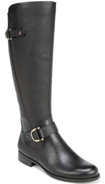 Naturalizer Jillian Leather Riding Boots Women's Shoes