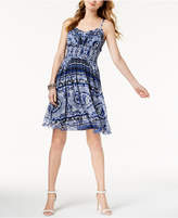 INC International Concepts Smocked A-Line Tank Dress, Created for Macy's