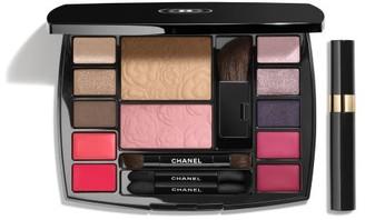 Chanel CHANEL TRAVEL MAKEUP PALETTE Makeup Essentials with Travel Mascara in Harmonie de Camelias