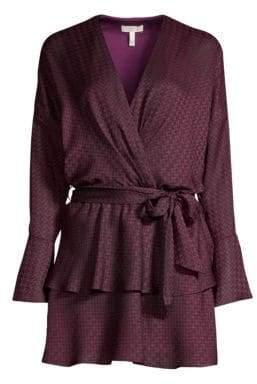 Joie Women's Marcel Print Wrap Dress - Blackberry - Size XS
