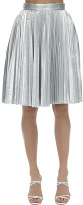 pushBUTTON Plisse Metallic Skirt