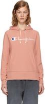Champion Reverse Weave Pink Classic Logo Hoodie