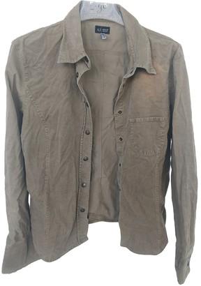 Armani Jeans Beige Velvet Top for Women