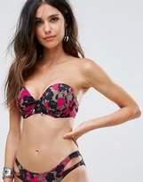 Pour Moi? Pour Moi Glamo Camo Strapless Padded Bikini Top