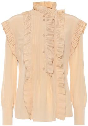 Chloé Ruffle-trimmed silk blouse