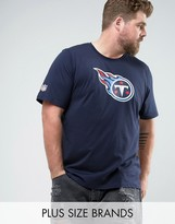 New Era Plus Nfl Tennessee Titans T-shirt In Navy