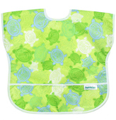 Bumkins Green & Blue Turtles Junior Bib