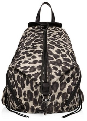 Rebecca Minkoff Julian Leopard-Print Nylon Backpack