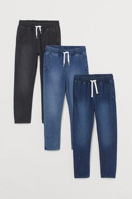 H&M 3-pack Denim Joggers