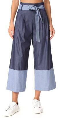 Parker Women's Jackson Combo Chambray Pant 2