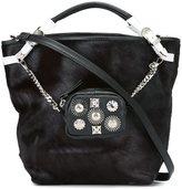 Toga studded clutch detail shoulder bag - women - Goat Fur/Leather - One Size