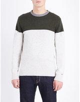 Tommy Hilfiger Donegal Contrast Panel Cotton-blend Jumper