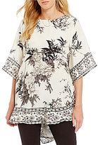 Tolani Narissa 3/4 Sleeve Printed Caftan Tunic
