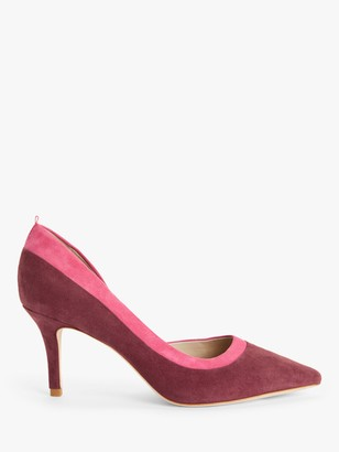 Boden Sophia Suede Mid Heel Court Shoes