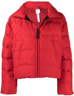 Reebok x Victoria Beckham Logo-Print Cropped Puffer Jacket