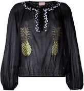 Giamba collarless pineapple print blouse