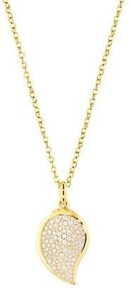 Tamara Comolli Signature Wave 18K Yellow Gold & Diamond Pave Small Pendant