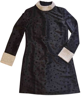 Shrimps Black Silk Dresses