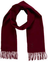 Saint Laurent Fringe-Trimmed Wool Scarf w/ Tags