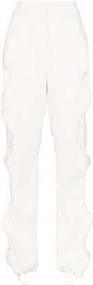 Stella McCartney Vertical Zip Ruffle Detail Cotton Blend Track Pants