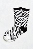 Urban Outfitters Zebra Crew Sock
