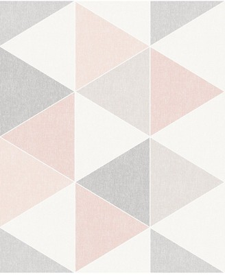 Arthouse Scandi Triangle Wallpaper Pink