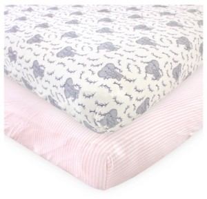 Touched by Nature Baby Girl Fitted Crib Sheets