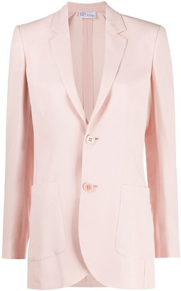 RED Valentino Single-Breasted Unlined Blazer