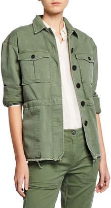 Derek Lam 10 Crosby Button-Front Cotton Utility Jacket