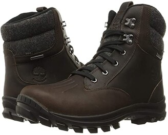 Timberland Chillberg Waterproof Mid Boot (Dark Brown Full Grain) Men's Lace-up Boots