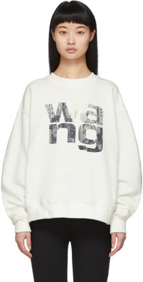 Alexander Wang Off-White Graphic Crewneck Sweatshirt