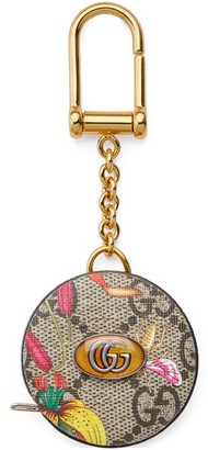 Gucci Ophidia GG Flora measuring tape keychain