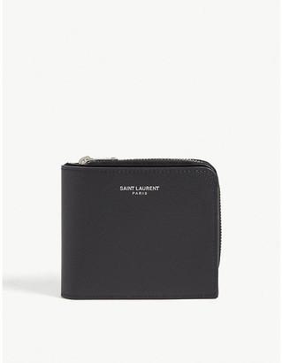 Saint Laurent Logo leather wallet