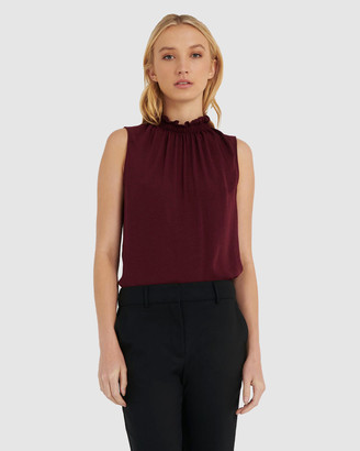 Forcast Women's Shirts & Blouses - Cindy Ruffle Neck Top - Size One Size, 8 at The Iconic