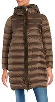 Max Mara Rabbit Fur-Trimmed Hooded Puffer Down Coat