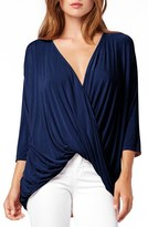 Michael Stars Women's Drape Front Surplice Top