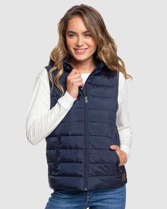 Roxy Womens Water Repellent Weekend Hike Hooded Puffer Vest