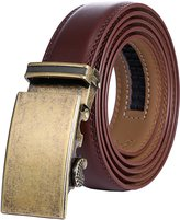 Marino Avenue Marino Men's Genuine Leather Ratchet Dress Belt with Automatic Buckle, Enclosed in an Elegant Gift Box